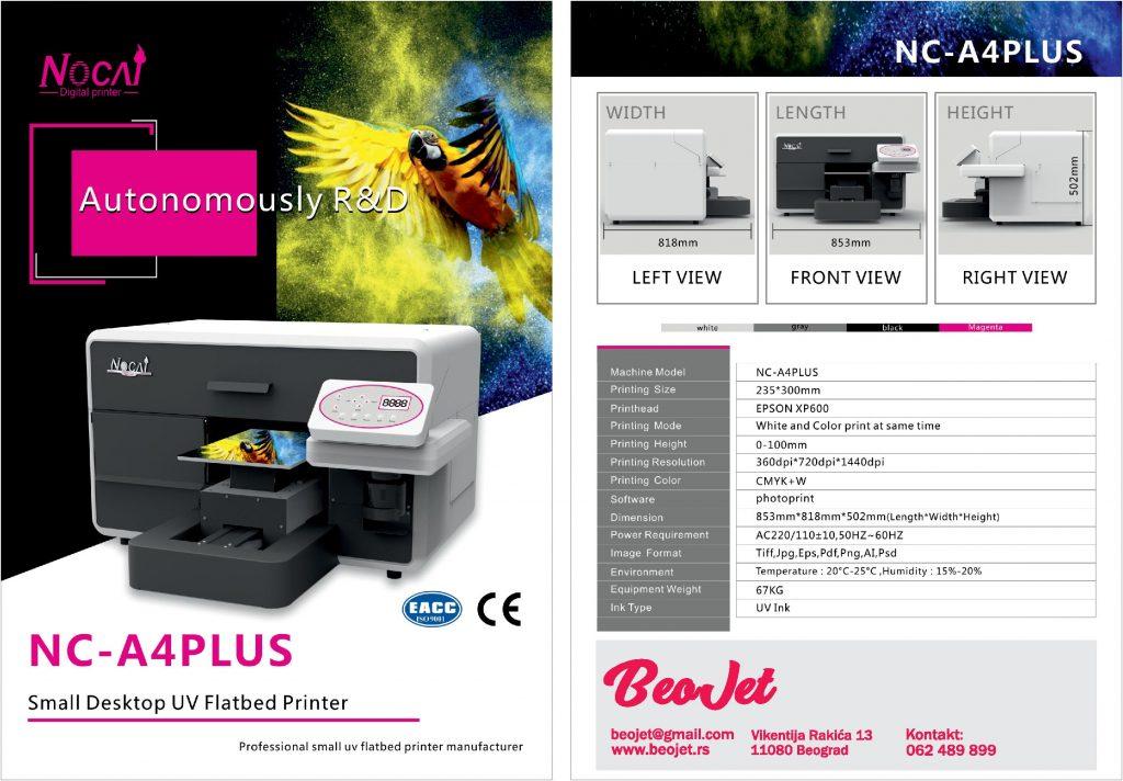 UV štampač 23x30cm radna površina, bela, štampa na maskama za telefon