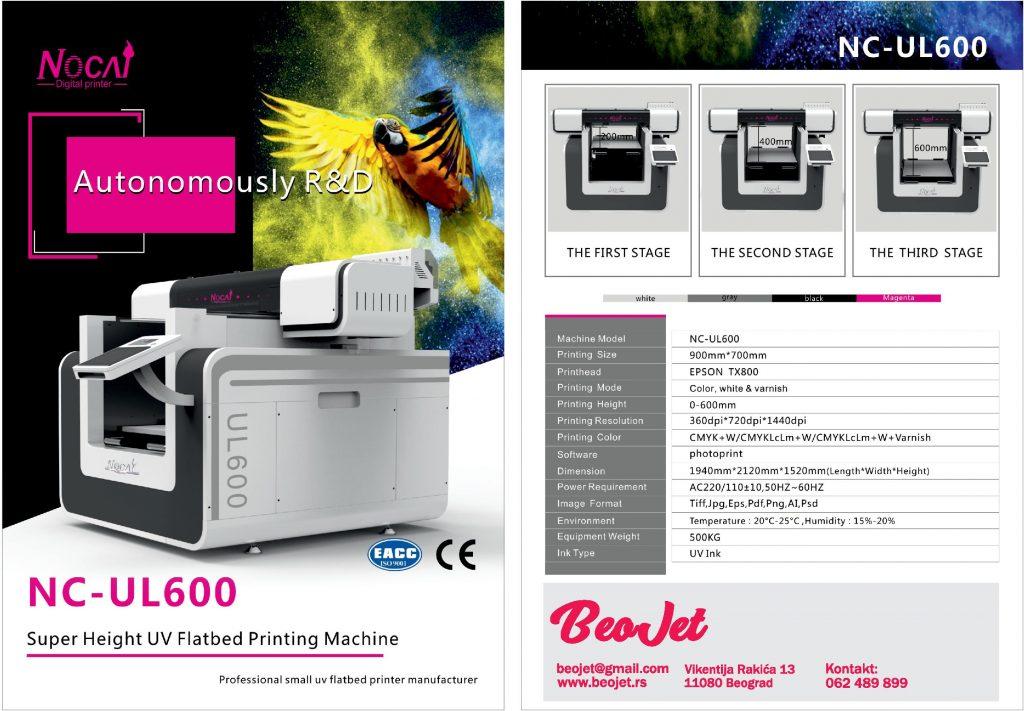 UV štampač 90x70cmcm radna površina, bela i lak boja, štampa na maskama za telefon